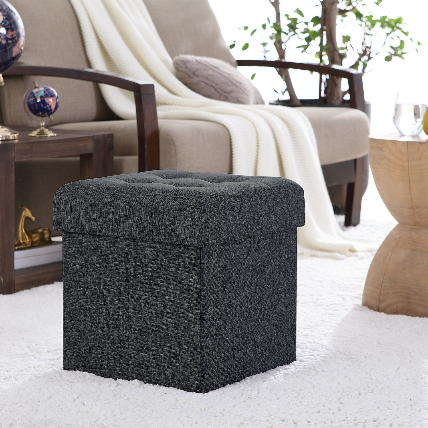 Home Furniture Diy Footstool Pouffe Stool Cushion Ottoman Square Upholstered Chair Seat Desmoinesfencecompany Com