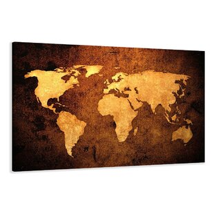 Framed world map wayfair world map graphic art print on canvas gumiabroncs Images