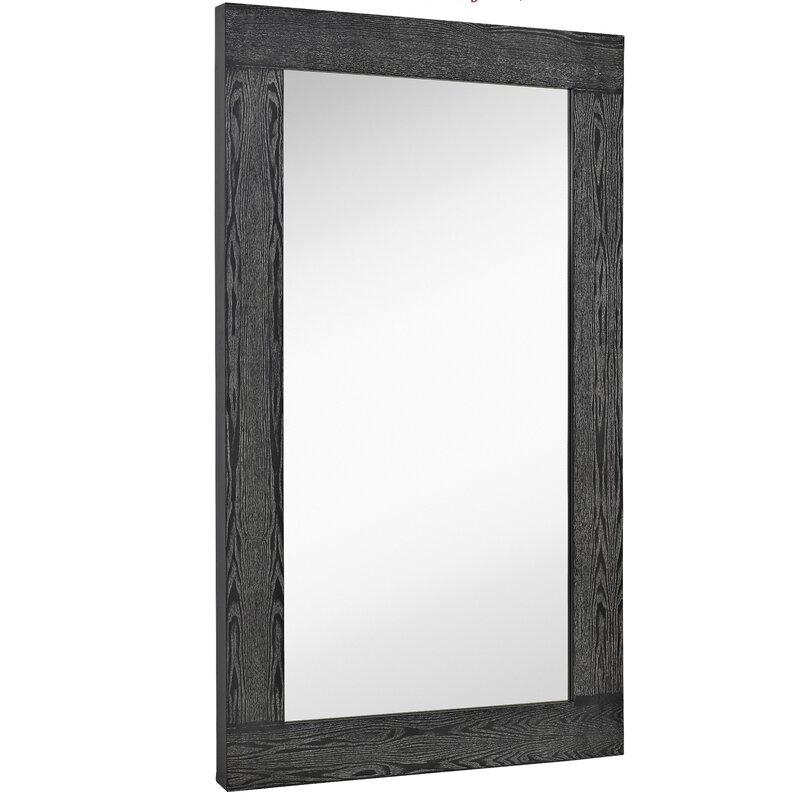 Majestic Mirror Oversized Modern Rectangular Black With White Wash ...