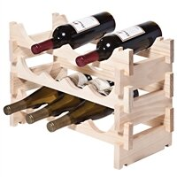 12 Bottle Floor Wine Bottle Rack by Sympl..