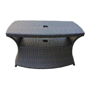 Hickey Outdoor 3 Piece Wicker Armed Chaise Lounge Set