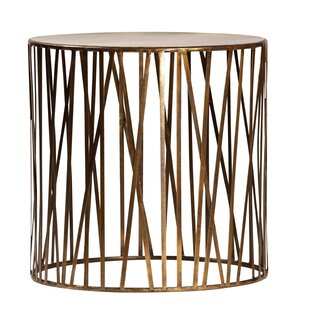 Murray Brass End Table by Tipton & Tate