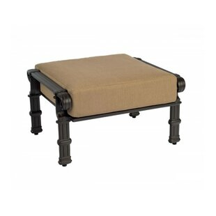 Woodard Spartan Ottoman with Cushion