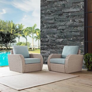 Highland Dunes Boomer Patio Chairs with C..