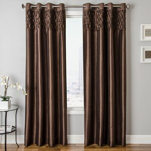Heger Solid Grommet Single Curtain Panel