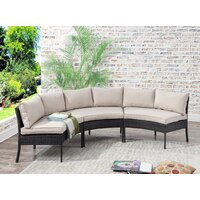 Deals on Breakwater Purington Circular Patio Sectional with Cushions