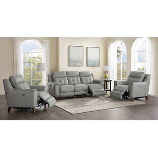 Tortuga Power 3 Piece Leather Reclining Living Room Set By Wrought Studio