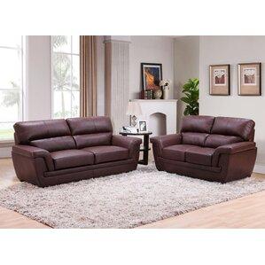 Kester Leather 2 Piece Living Room Set by La..
