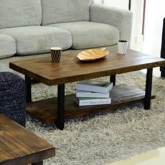 17 Stories Parvin Coffee Table With Storage Wayfair