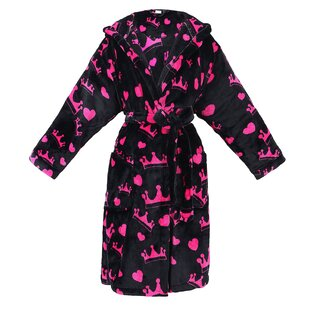 Laredo Women's Printed Flannel Cotton Blend Fleece Bathrobe