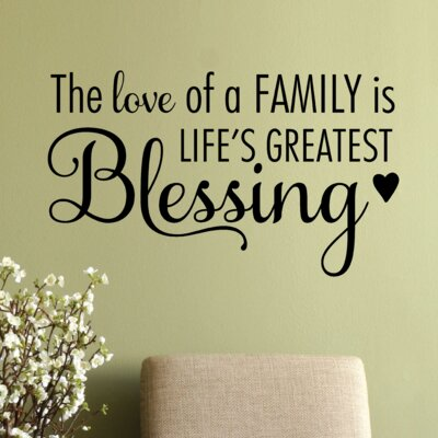 Belvedere Designs LLC The Love of A Family Wall Quotes™ Decal | Wayfair