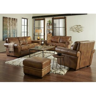 Iwan Leather Standard Configurable Living Room Set by Canora Grey