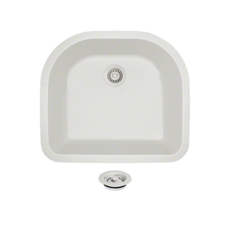 granite composite 25   x 22   undermount kitchen sink with flange mrdirect granite composite 25   x 22   undermount kitchen sink with      rh   wayfair com