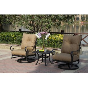 Darby Home Co Lanesville 3 Piece Conversation Set with Cushions