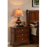 Bayliss 3 - Drawer Solid Wood Nightstand in Cherry by Wildon Home®