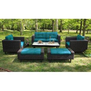 Beachcrest Home Mekhi Deep Seating Group with Sunbrella Cushions