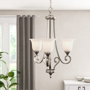 Bretton 3-Light Shaded Chandelier by Red Barrel Studio