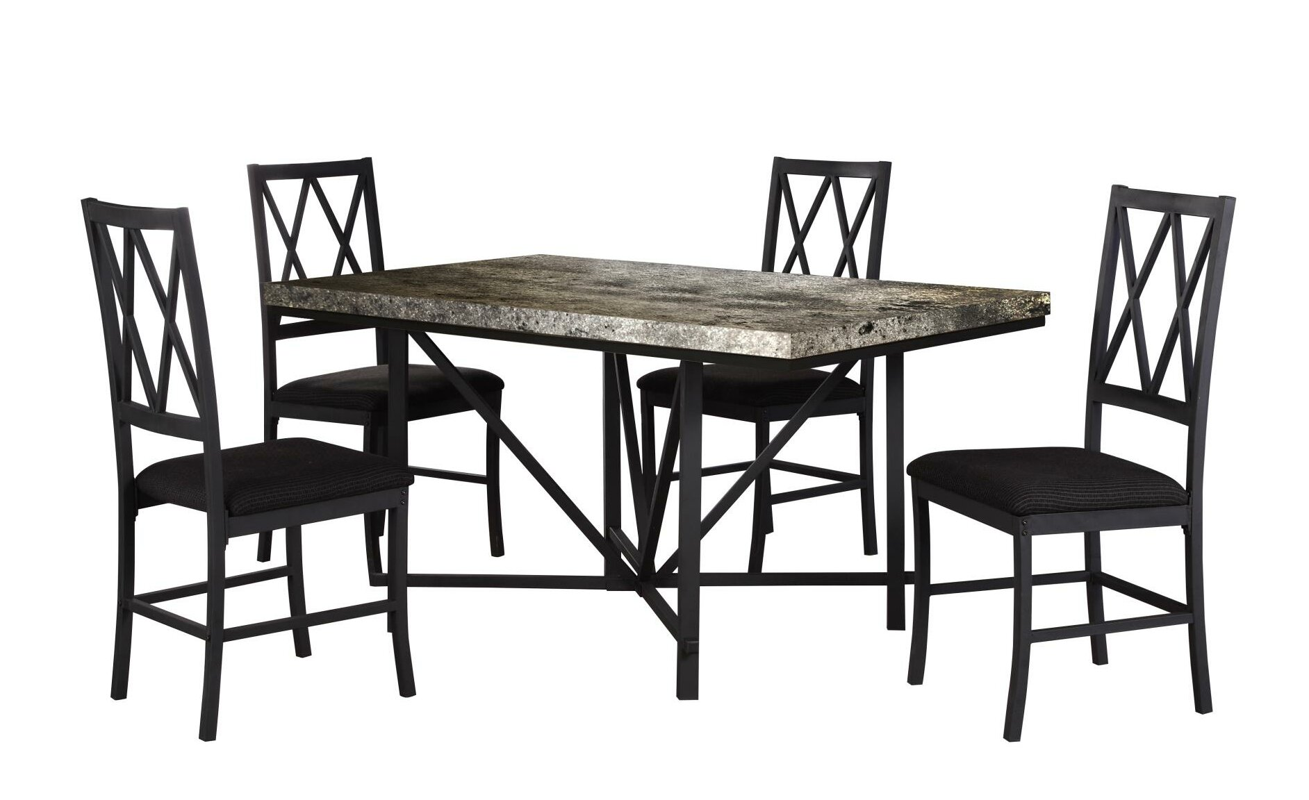 Tibbs Faux Concrete Dining Table