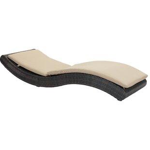 Orren Ellis Meeki Chaise Lounge with Cushion
