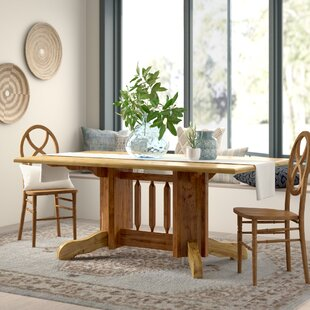Loon Peak Abella Solid Wood Dining Table ..