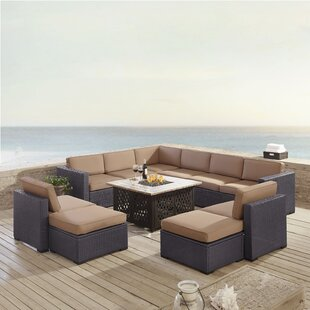 Dinah 8 Piece Sectional Seating Group with Cushions by Highland Dunes