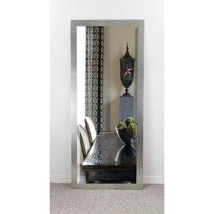 Brayden Studio Brushed Silver Beveled Wall Mirror