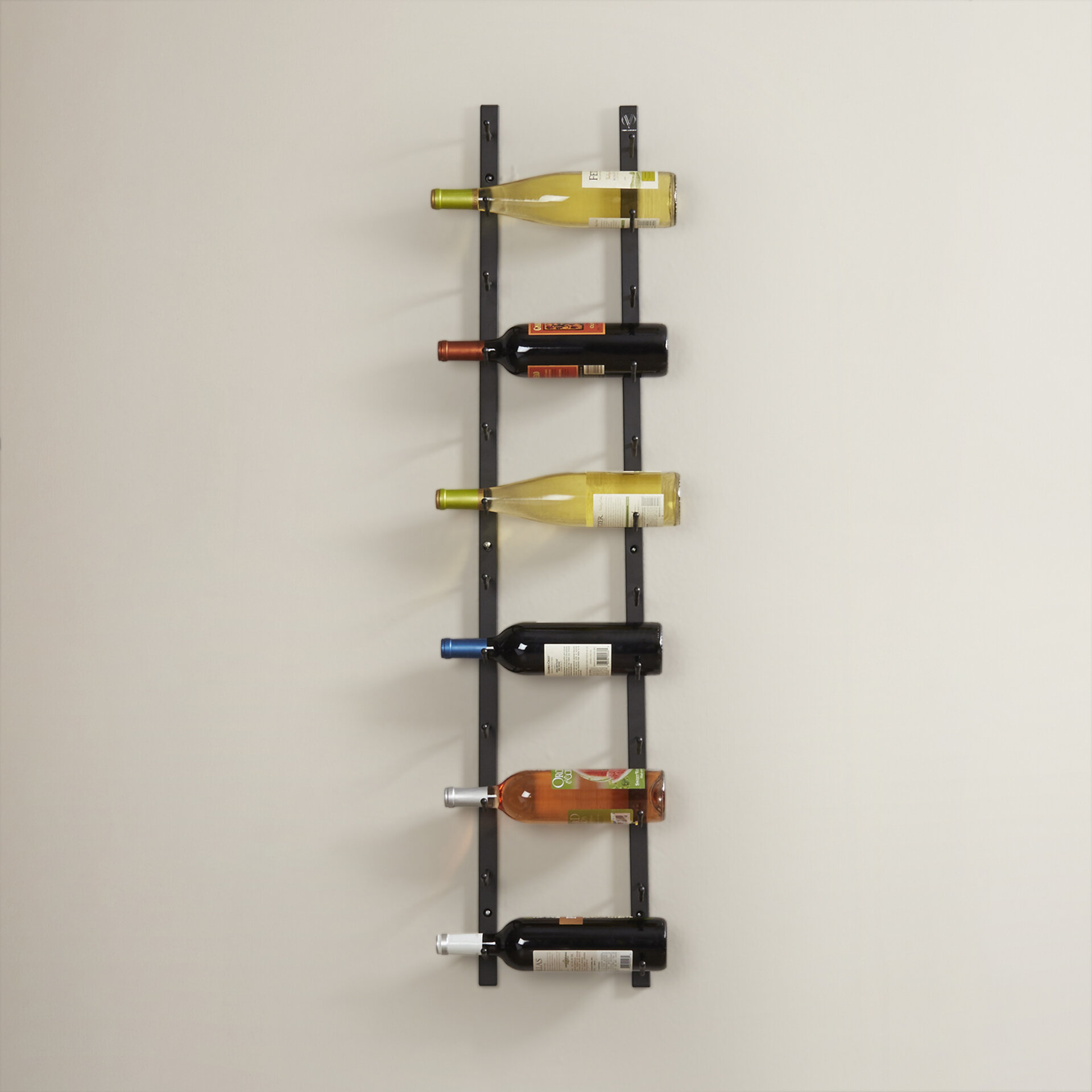 Indurial 12 Bottle Wall Mounted Wine Bottle Rack Reviews