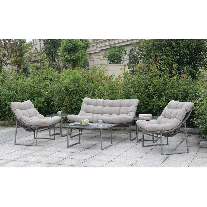 Blunt Patio Loveseat With Cushion