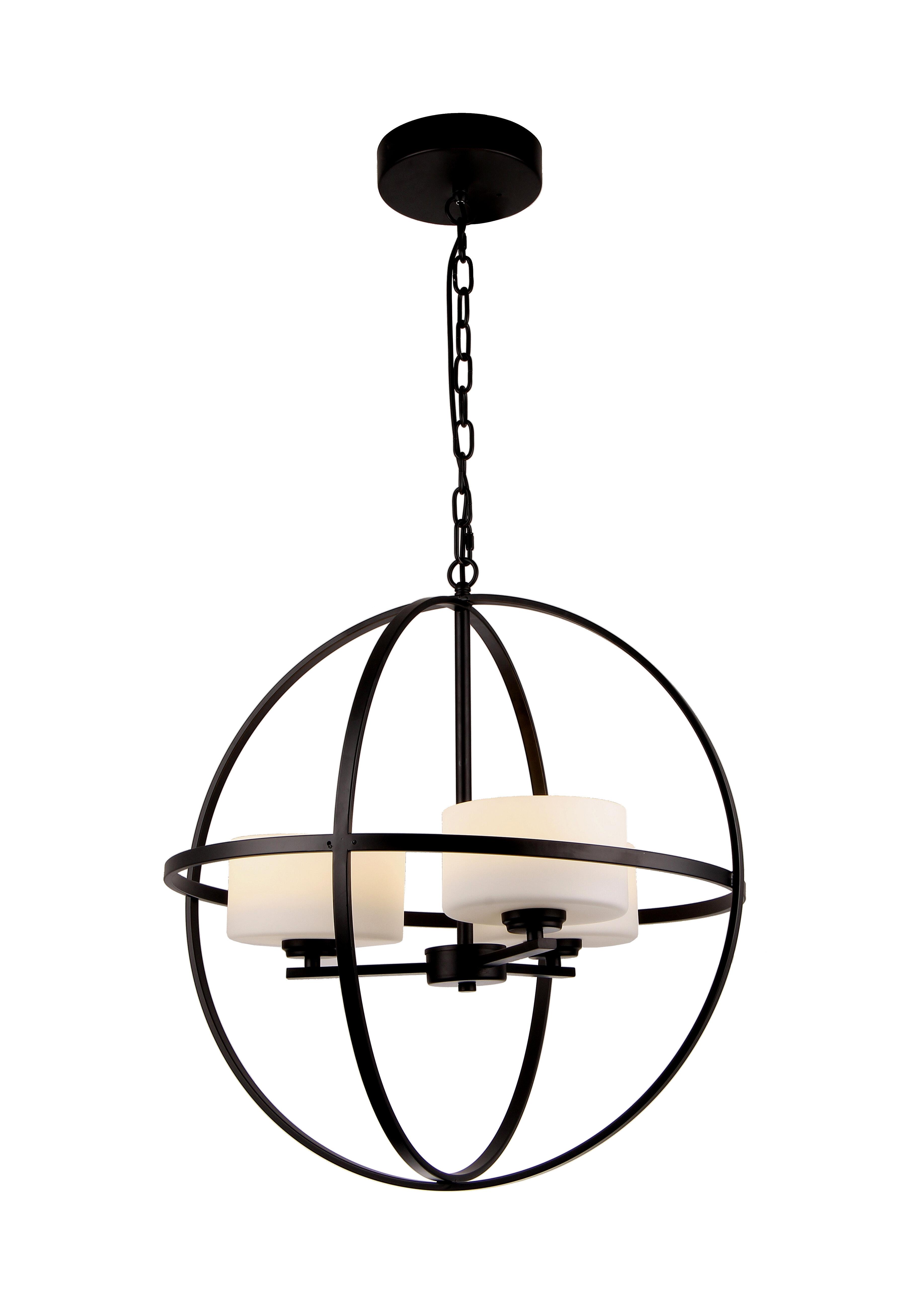 Latitude Run Arec 3 Light Unique Globe Chandelier Wayfair
