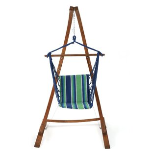 Rosecliff Heights Crepeau Hammock Chair with Stand