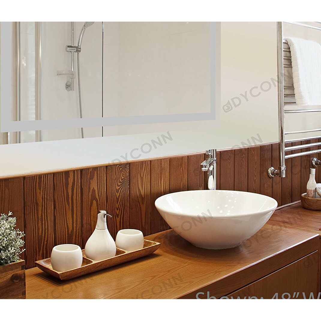 Dyconn Faucet Edison Bathroom Mirror  Reviews Wayfair -  fort lauderdale bathroom mirror light