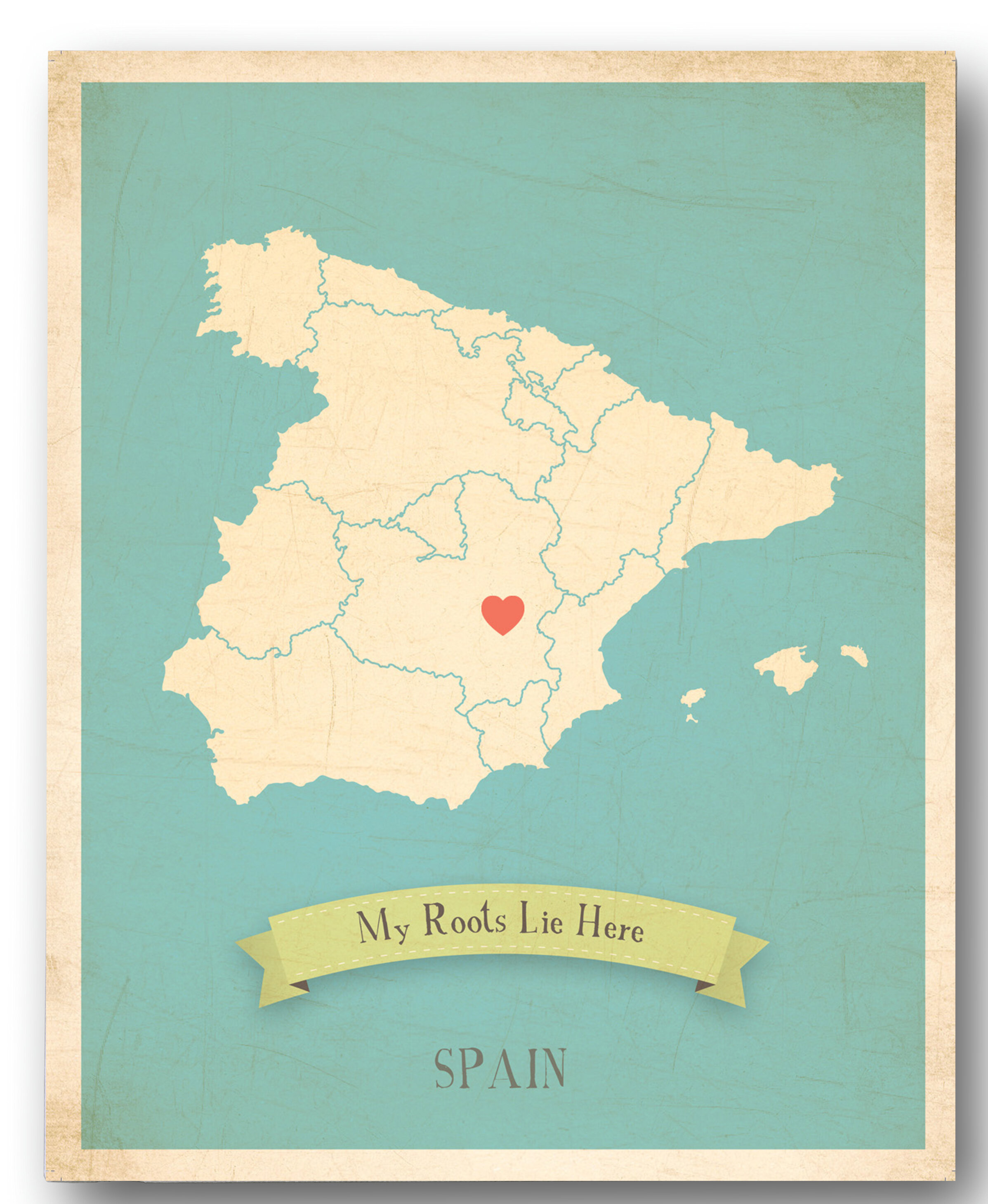 Map Of Spain For Children.My Roots Spain Personalized Map Graphic Canvas Art