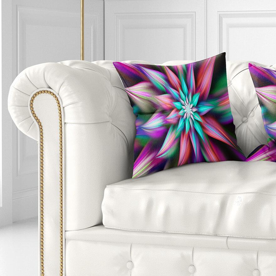 East Urban Home Floral Dance Of Exotic Flower Pillow Wayfair