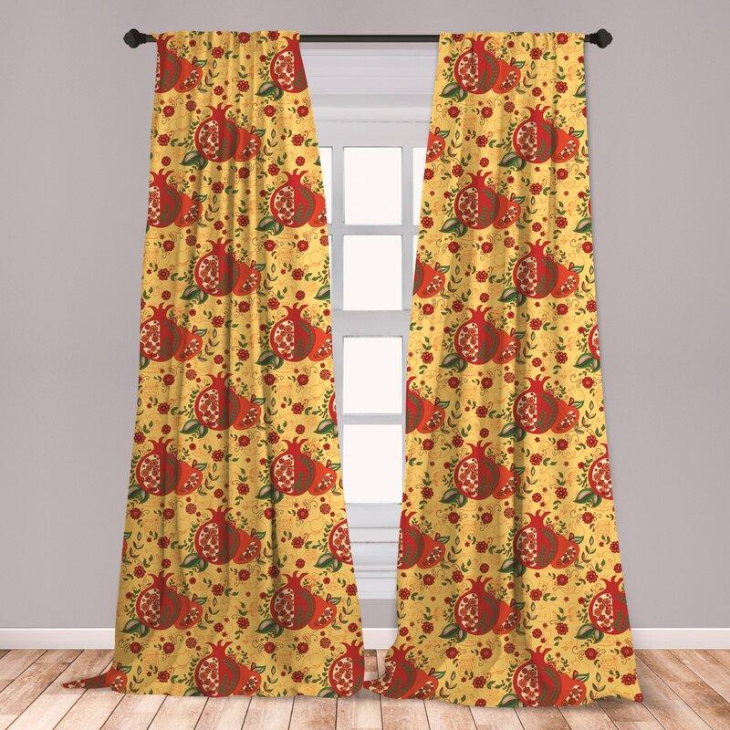 East Urban Home Oriental Room Darkening Rod Pocket Curtain Panels Wayfair