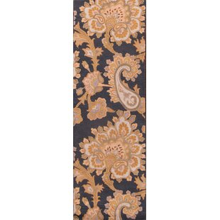 Where buy  Makenna Agra Traditional Oriental Hand-Tufted Wool Brown/Black Area Rug ByCharlton Home