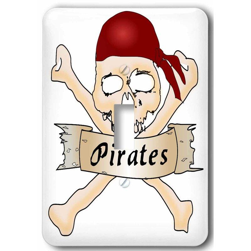 3drose Skull And Cross Bones Pirates 1 Gang Toggle Light Switch Wall Plate Wayfair