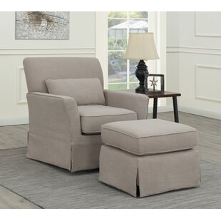 Montes Putty Swivel Gilder and Ottoman by Rosecliff Heights