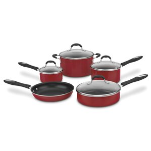 Nonstick Aluminum 9 Piece Cookware Set