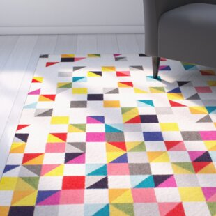 Affordable Price Hunter White Area Rug By Latitude Run