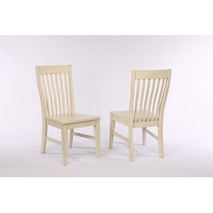 Yvonne Slat Back Dining Chair (Set of 2) Gracie Oaks