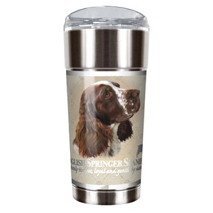 Howard Robinson's English Springer Spaniel 24 oz. Stainless Steel Travel Tumbler