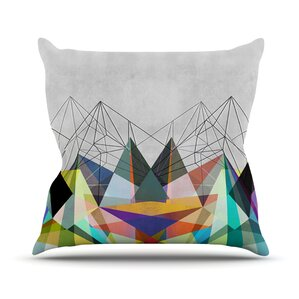 Colorflash 3X Rainbow Outdoor Throw Pillow
