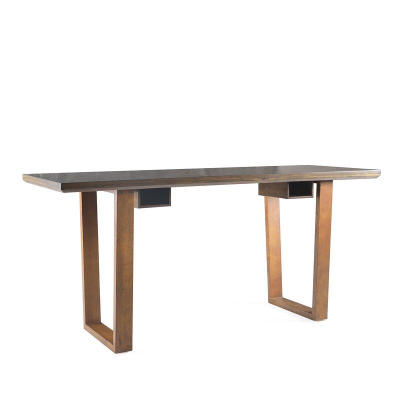 George Oliver  Bianchi Solid Wood Writing Desk Color: Walnut