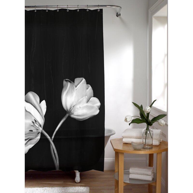 Burnett PEVA Tulip Photoreal Shower Curtain