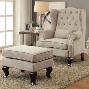 Willow Wingback Chair and Ottoman by A&J Homes Studio