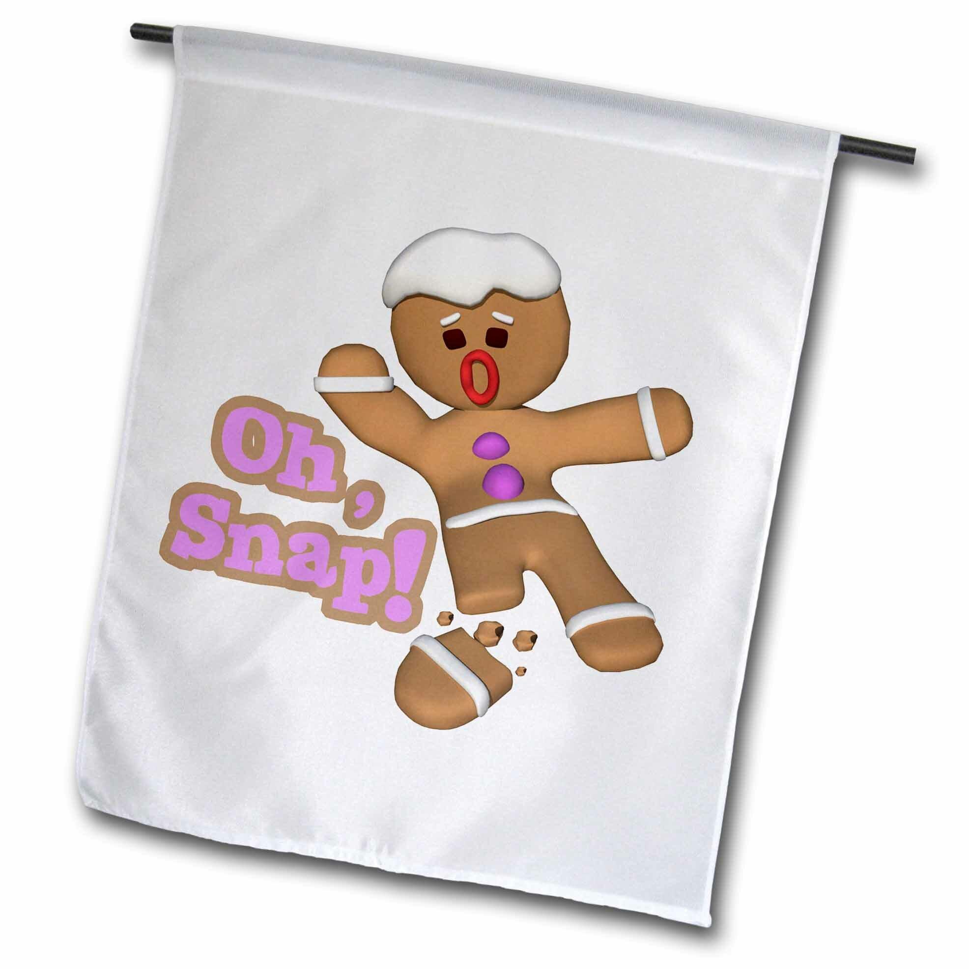 Oh Snap Broken Sned Gingerbread Man
