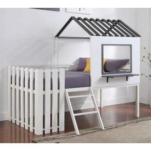 Quevedo Twin Low Loft Bed by Harriet Bee