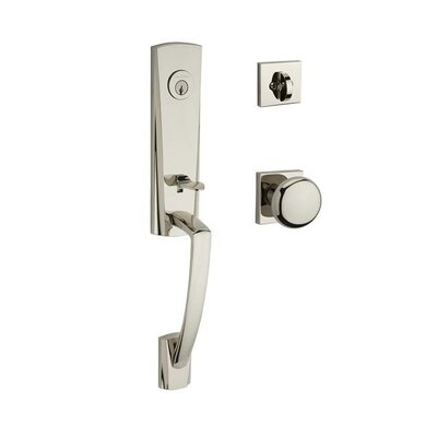 Miami Single Cylinder Handleset With Round Door Knob And Contemporary Square  Rose