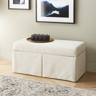Arbor Glen Linen Wood Skirted Storage Bench