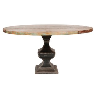 August Grove Odilion Solid Wood Dining Ta..